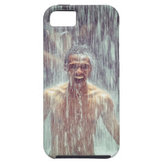 The man under the Waterfall iPhone 5 Case