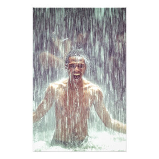 The man under the Waterfall Stationery