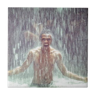 The man under the Waterfall Tile
