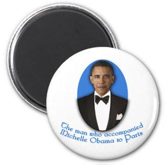The Man Who Accompanied Michelle Obama to Paris 6 Cm Round Magnet