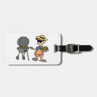 """""""THE MAN WHO GRILLS"""" LUGGAGE, I.D. AND GOLF TAG"""