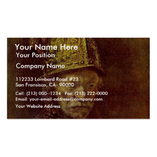 The Man With The Golden Helmet. Pack Of Standard Business Cards