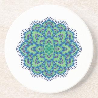 The Mandala-Cool Emerald Coasters