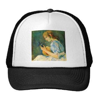 The Mandolin by Berthe Morisot Mesh Hats
