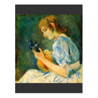 The Mandolin by Berthe Morisot Postcard