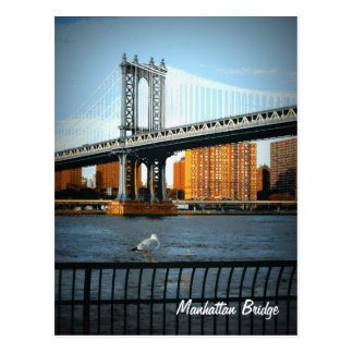 The Manhattan Bridge Postcard