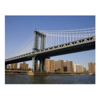 The Manhattan Bridge spanning the East River 2 Postcard