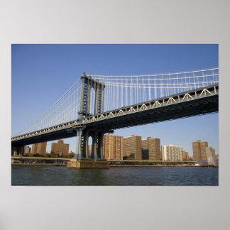 The Manhattan Bridge spanning the East River 2 Poster