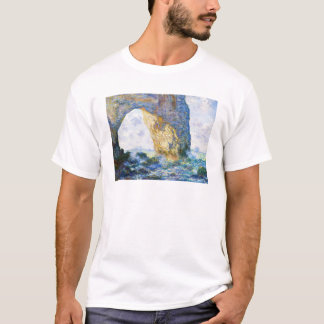The Manneport, Rock Arch West of Etretat Monet T-Shirt
