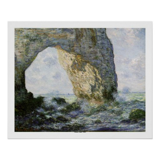 The Manneporte by Claude Monet Posters