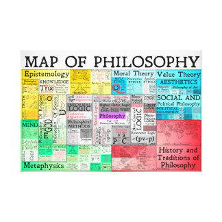 The Map of Philosophy Canvas Print