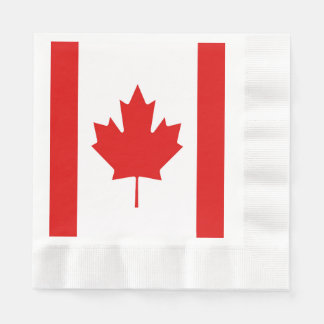 The Maple Leaf flag of Canada Disposable Napkin