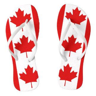 The Maple Leaf flag of Canada Thongs