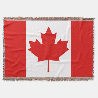 The Maple Leaf flag of Canada Throw Blanket