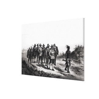The March of Miles Standish Canvas Print