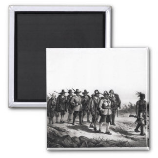 The March of Miles Standish Square Magnet