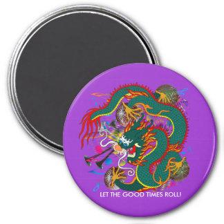 The-Mardi Gras Dragon V-2 7.5 Cm Round Magnet