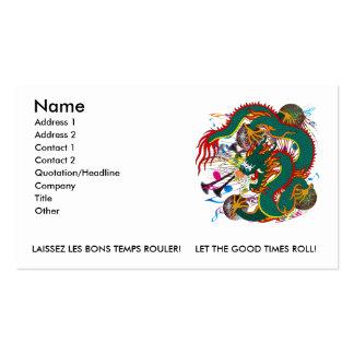 The-Mardi Gras Dragon V-2 Business Card