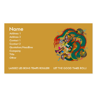 The-Mardi Gras Dragon V-2 Business Card Templates
