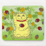 The Marigolds Are Lucky Today! Mouse Pad