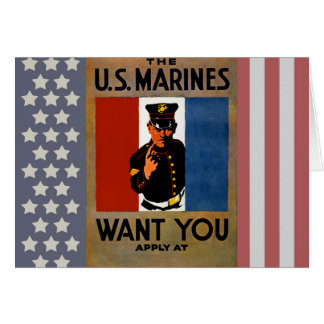 The Marines Want You Card