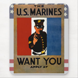 The Marines Want You Mouse Pad