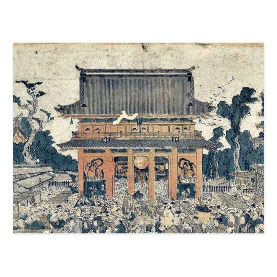 The market at Kinryuzan by Utagawa,Toyokuni Postcard