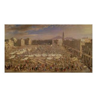 The Market at Naples Poster