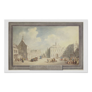 The Market Place at Juliers in Westphalia, 1791 (p Poster