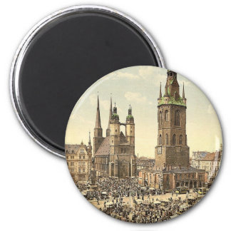 The market place, Halle, German Saxony, Germany ma Refrigerator Magnets