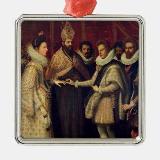 The Marriage of Catherine de Medici Metal Ornament