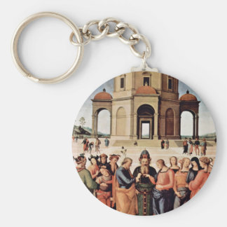 The Marriage Of Mary By Perugino Pietro Key Chain