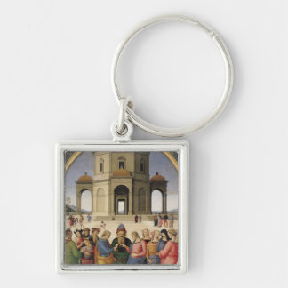 The Marriage of the Virgin, 1500-04 Silver-Colored Square Key Ring