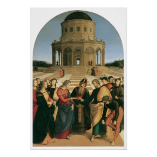 The Marriage of the Virgin Canvas Print