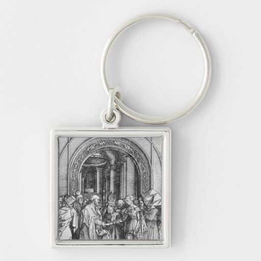The marriage of the Virgin Key Chain