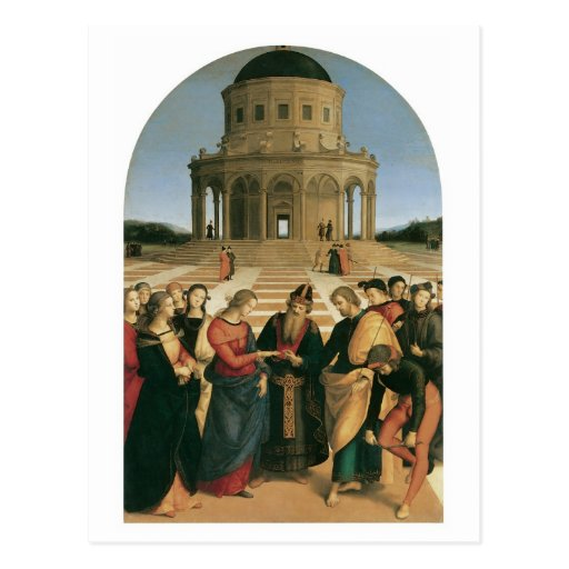 The Marriage of the Virgin - Raphael postcards