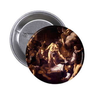 The Martyrdom of Saint Matthew by Caravaggio 1600 6 Cm Round Badge