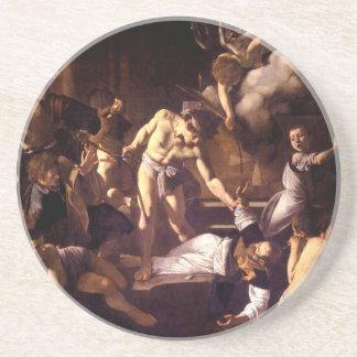 The Martyrdom of Saint Matthew by Caravaggio 1600 Drink Coaster