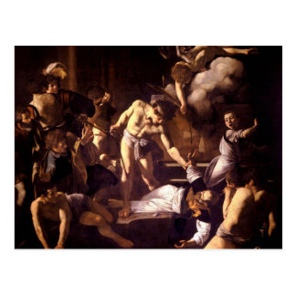 The Martyrdom of Saint Matthew by Caravaggio 1600 Postcard
