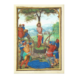 The Martyrdom of Saint Sebastian by Simon Bening Stretched Canvas Prints