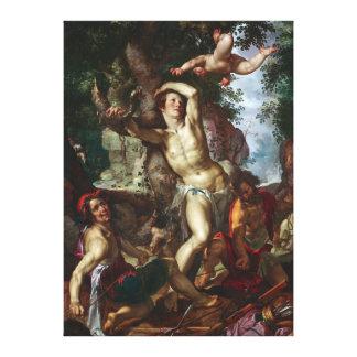 The Martyrdom of Saint Sebastian Joachim Wtewael Stretched Canvas Print