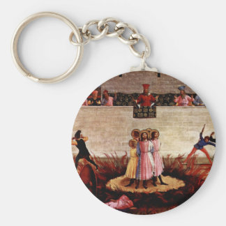 The Martyrdom Of Saints Cosmas And Damian Basic Round Button Key Ring