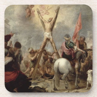 The Martyrdom of St. Andrew, 1675-82 (oil on canva Beverage Coasters