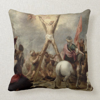 The Martyrdom of St. Andrew, 1675-82 (oil on canva Throw Pillows