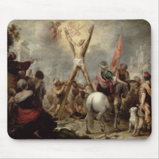 The Martyrdom of St. Andrew, 1675-82 (oil on canva Mouse Pad