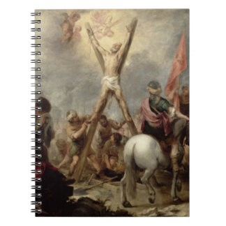 The Martyrdom of St. Andrew, 1675-82 (oil on canva Spiral Notebook