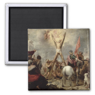 The Martyrdom of St. Andrew, 1675-82 (oil on canva Square Magnet