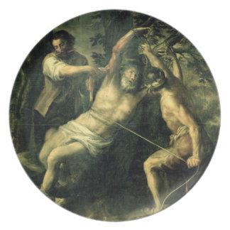 The Martyrdom of St. Bartholomew 2 Dinner Plates