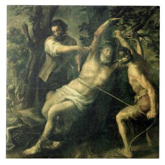 The Martyrdom of St. Bartholomew 2 Large Square Tile