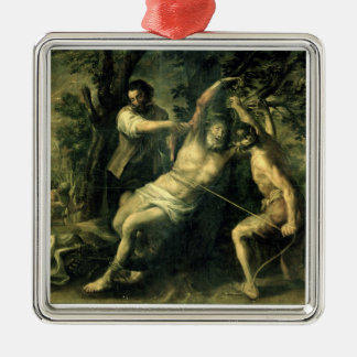 The Martyrdom of St. Bartholomew 2 Silver-Colored Square Decoration